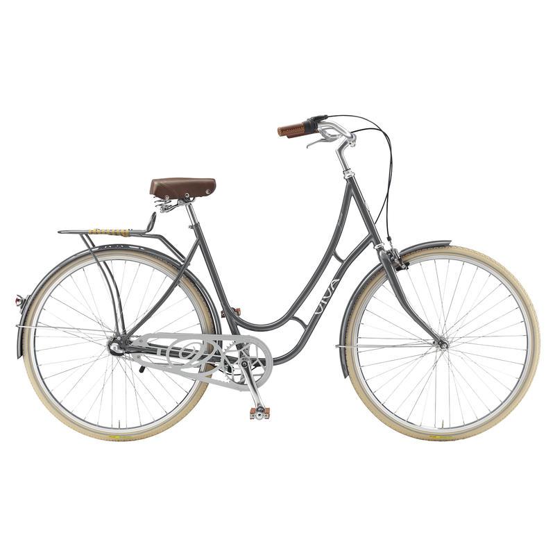Juliett Steel Classic Bicycle (3 Speed) Metallic Grey