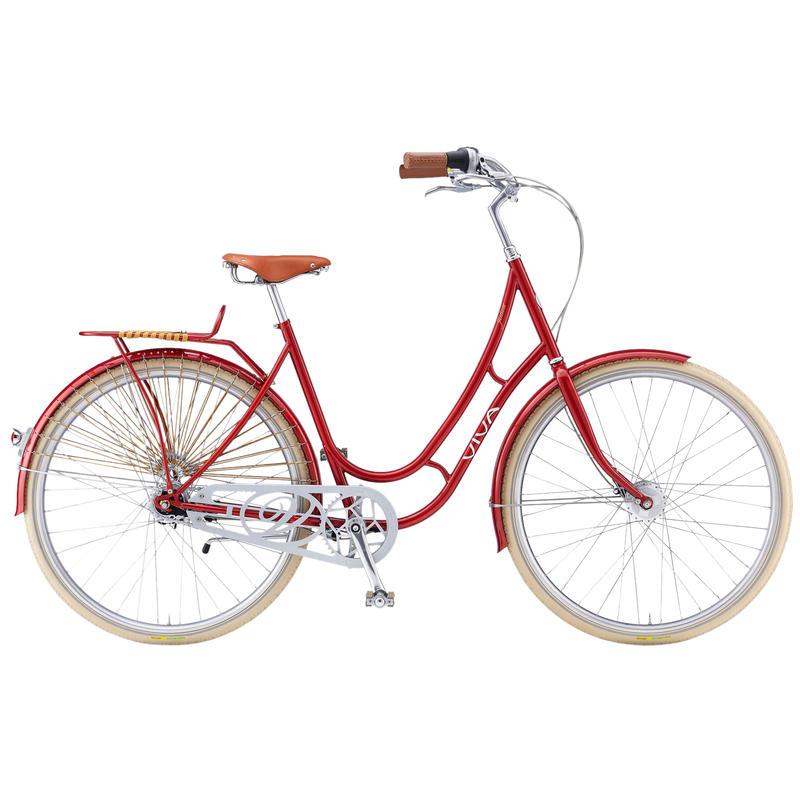 Vélo Juliett Classic au cadre en acier (7 vit.) Rouge