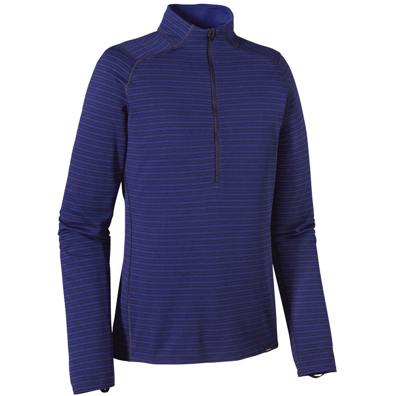 Capilene 3 Mid-Weight Zip-Neck Hardy Stripe/Cobalt Blue