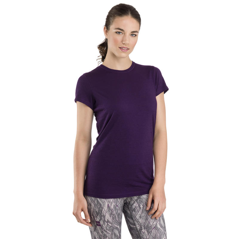 Merino T1 Short-Sleeved Crew Grape