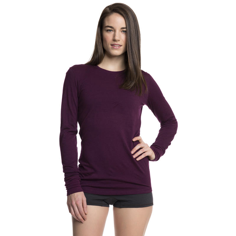 Merino T1 Long-Sleeved Crew Mulberry