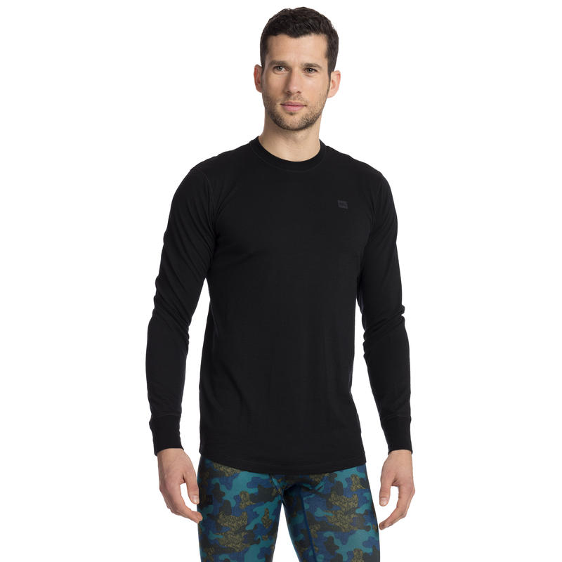 Merino T1 Long-Sleeved Crew Black
