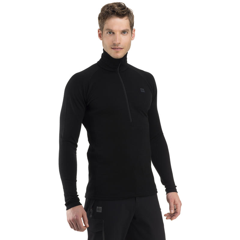 Merino T3 Zip-T Black