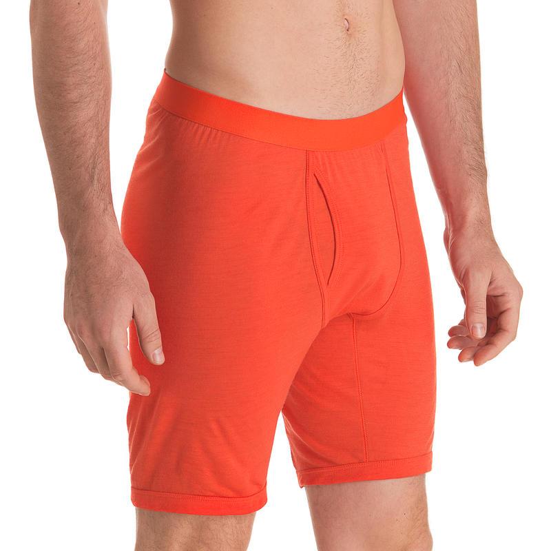 Caleçon boxeur T1 en laine mérinos Orange vif
