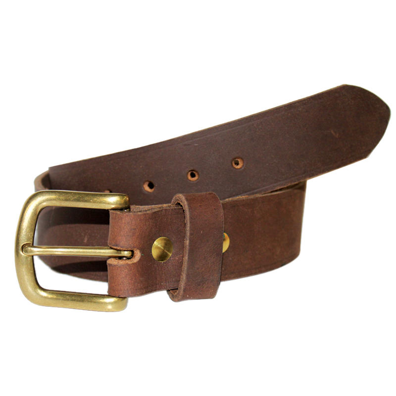 Rough Cut Leather Belt 38mm Brown