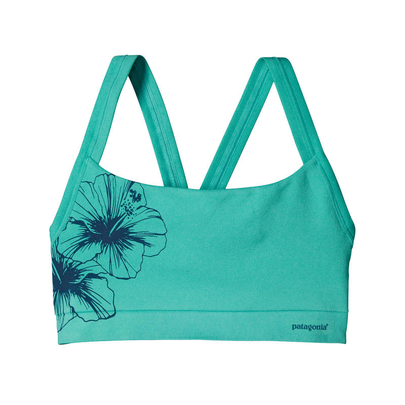Active Bra Waterflower Graphic/Howling Turquoise