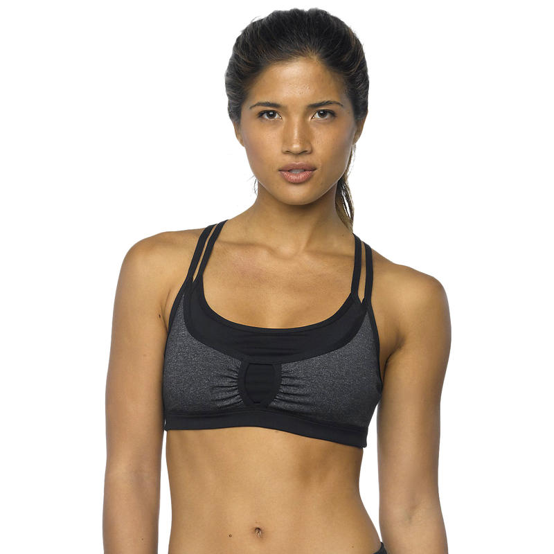Soleil Bra Top Charcoal Heather