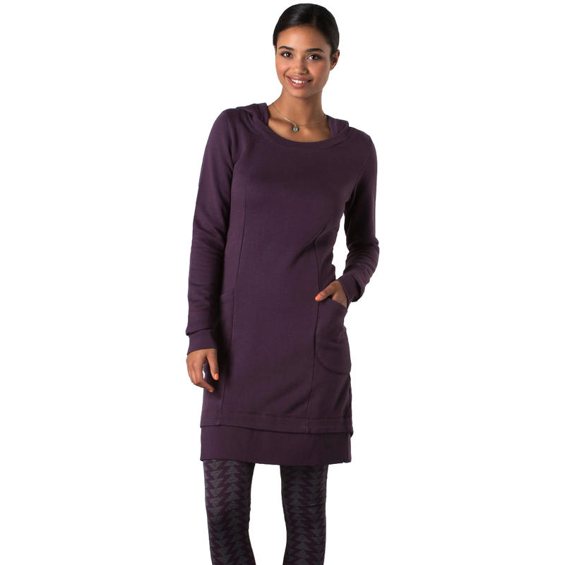 Overpass Hoodie Dress Dark Plum