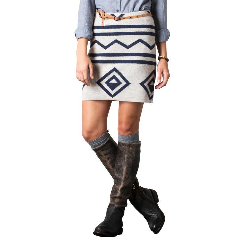 Diamond Sweater Skirt Deep Navy