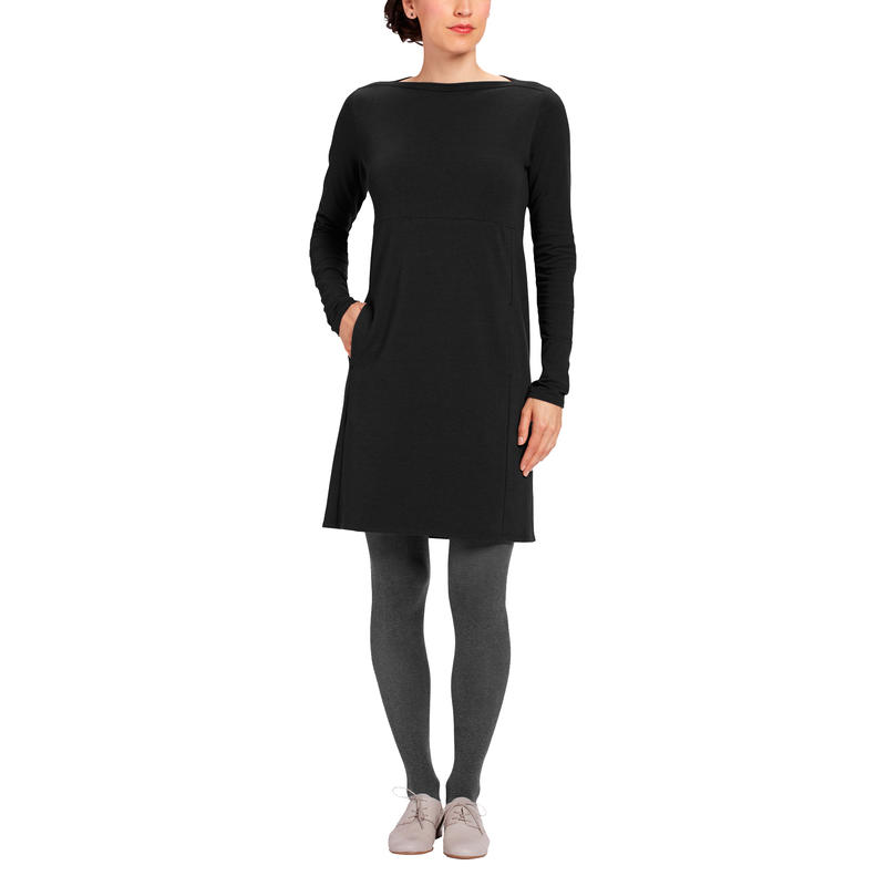 Elementerry Boatneck Dress Caviar