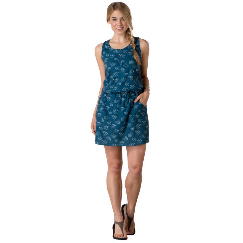 Gemma Dress Inky Teal Print