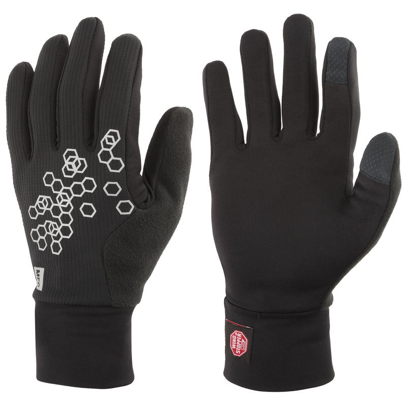 Reflective Run Gloves Black/Black