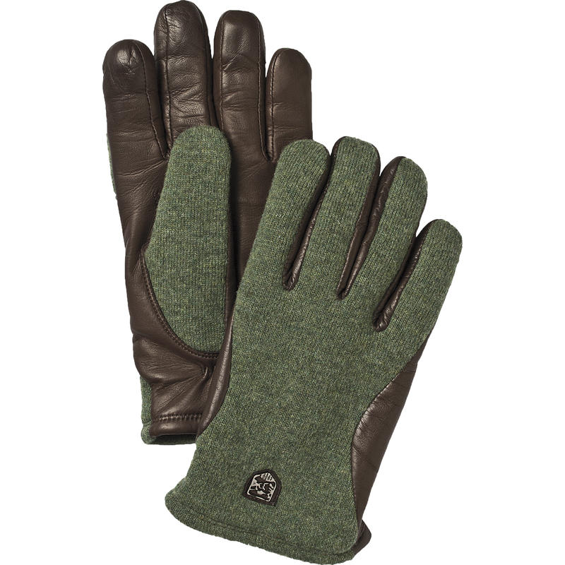 Classic Wool Tricot Gloves Dark Green