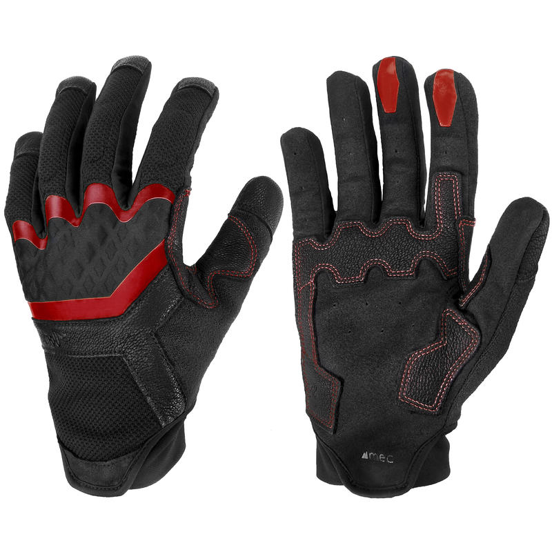 The Don Full Finger Gloves Black/Brick