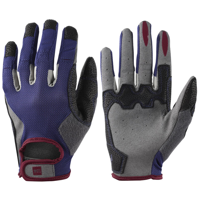Transmontane Cycling Gloves Blue Ribbon/Beet Red