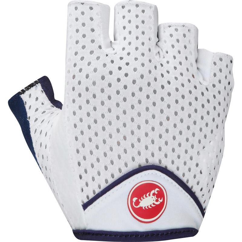 Tesoro W Gloves White/Deep Cobalt