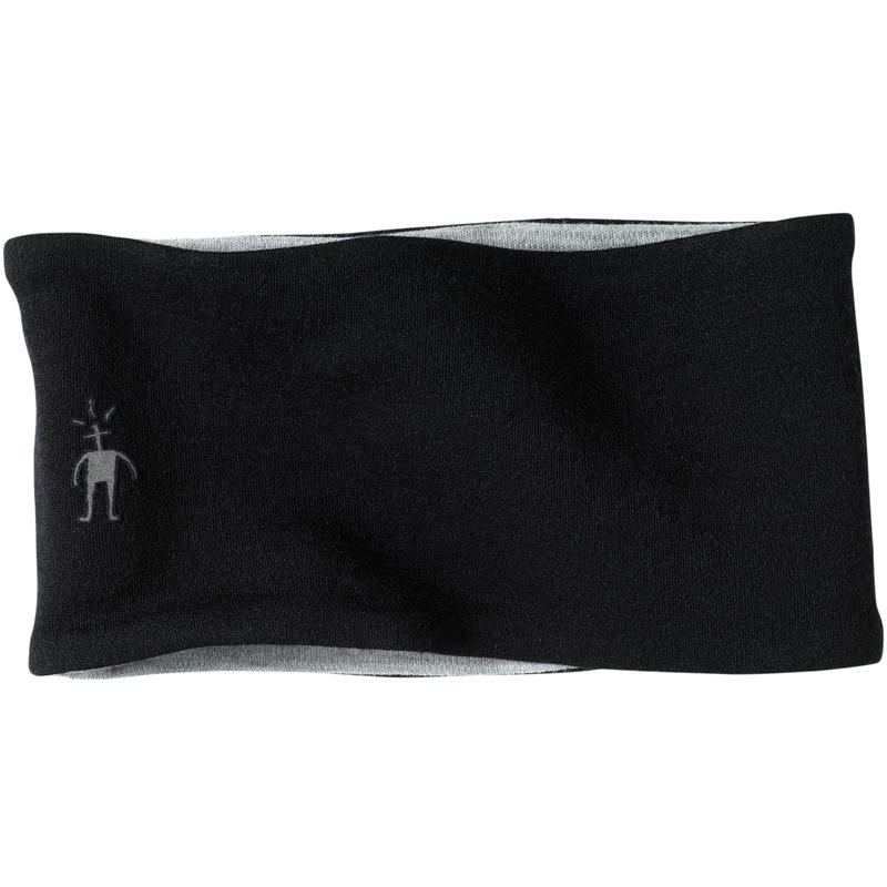 NTS Mid 250 Reversible Headband Black/Light Gray Heather