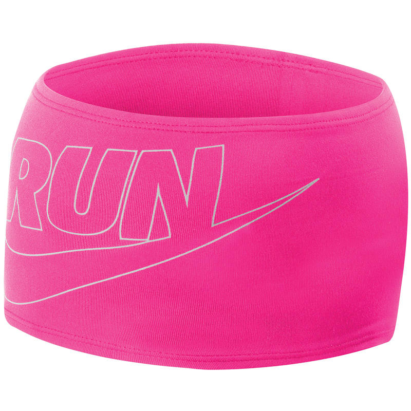 Running Doublewide Headband 2.0 Hyper Pink/Silver