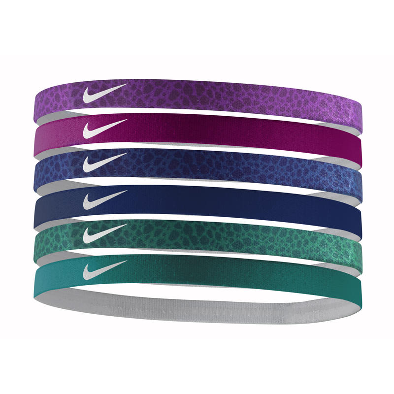 Printed Headbands Assorted 6 Pack Purple Dusk/Mulberry/Game Royal