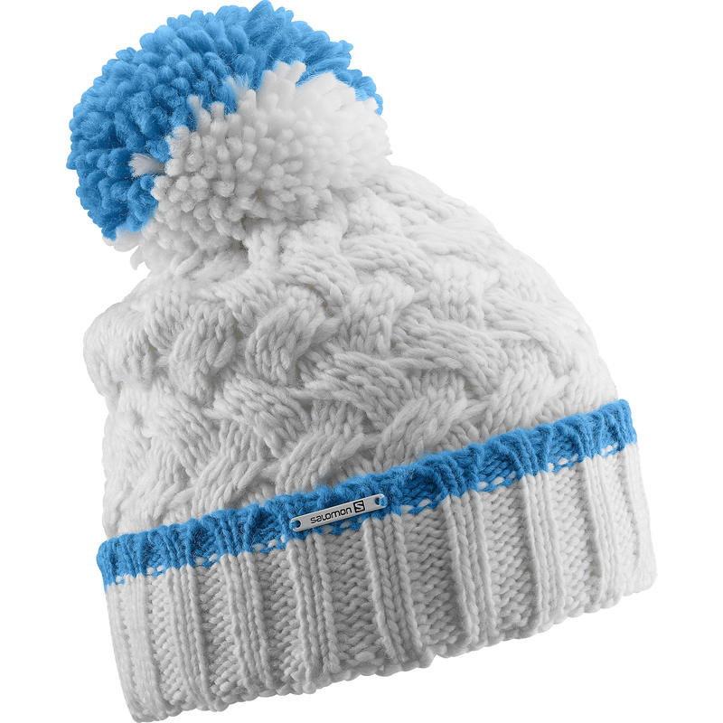 Laura Beanie White/Methyl Blue