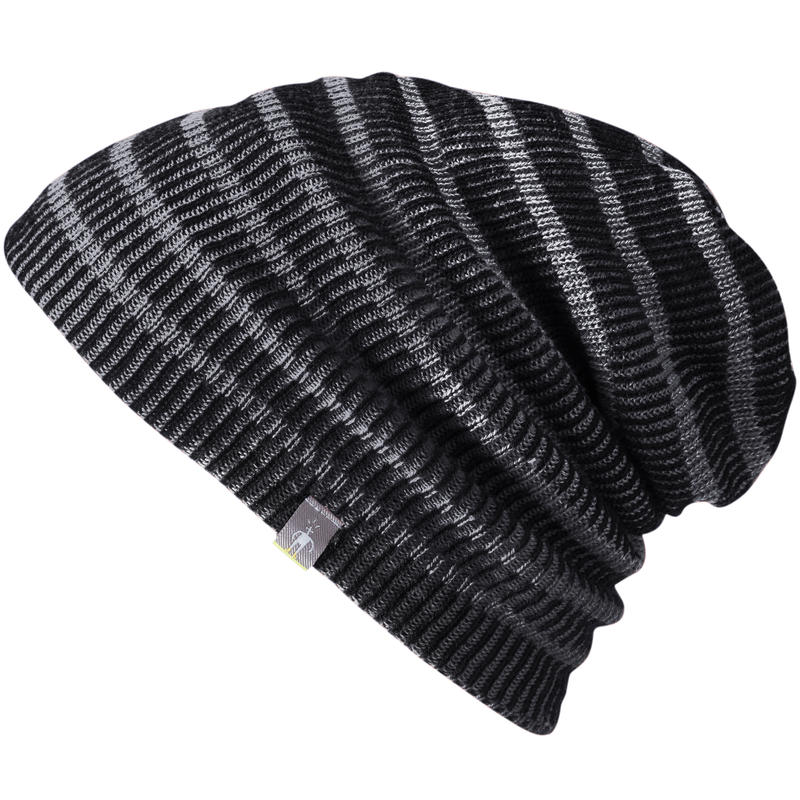 Reversible Slouch Beanie Charcoal Heather