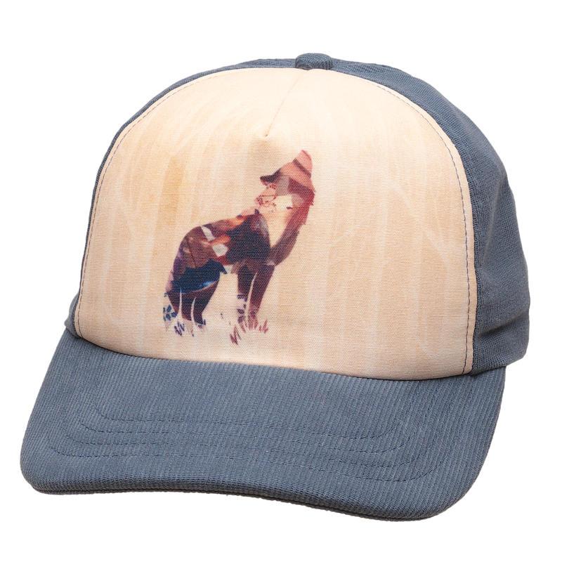 Animal Spirit Hat Slate Blue
