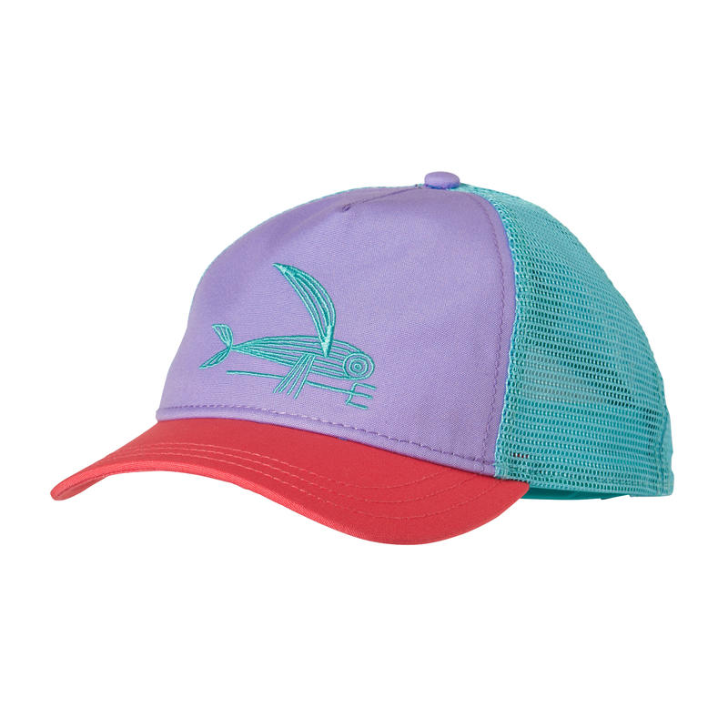 Deconstructed Flying Fish Layback Trucker Hat Ploy Purple