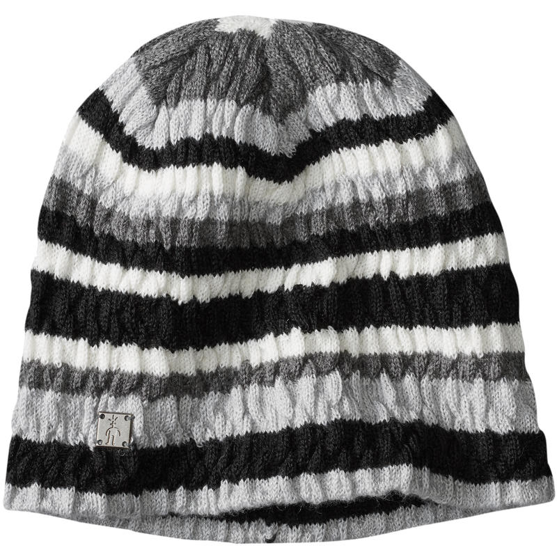 Tuque Striped Chevron Gris clair chiné