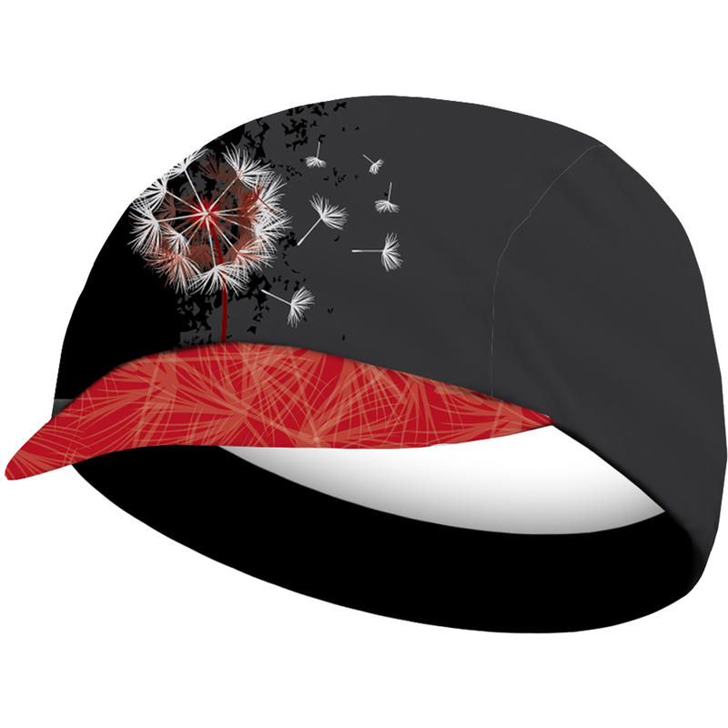 Paardebloem Cycling Cap Black/Red