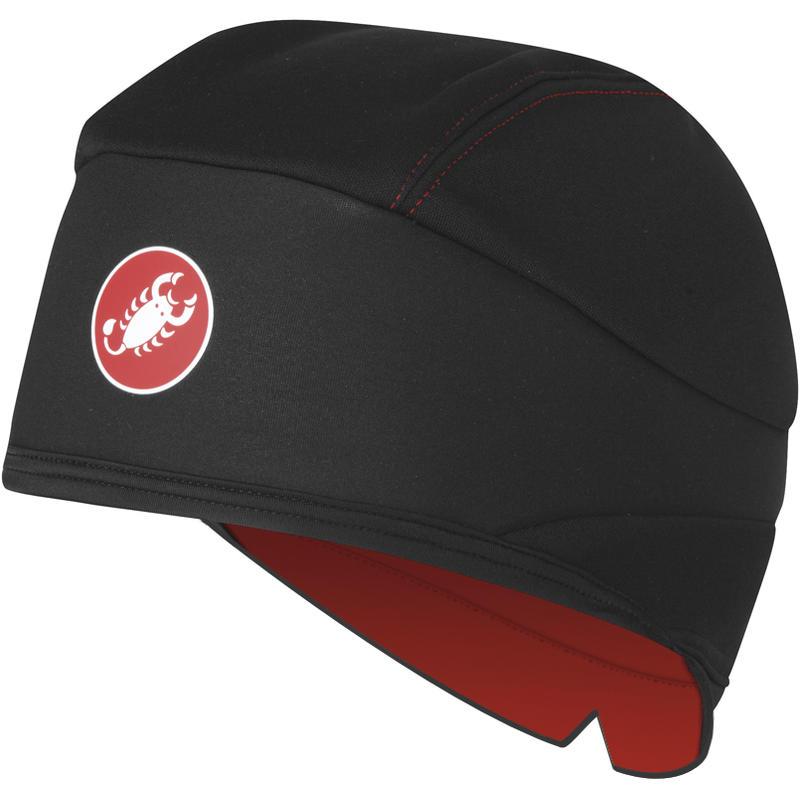 Bonnet de vélo WS Skully Noir/Rouge