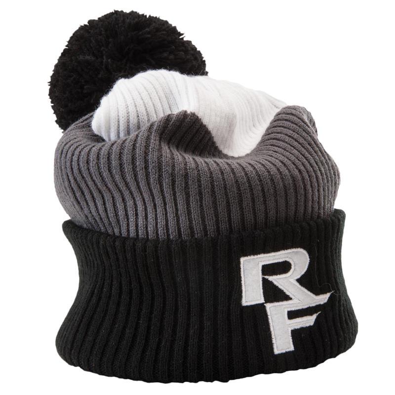 Doug Rib Knit Toque White/Grey