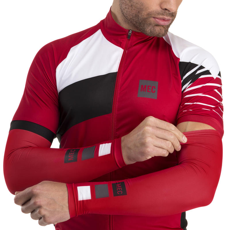 Bolt Arm Sleeves Racing Red MEC Squares