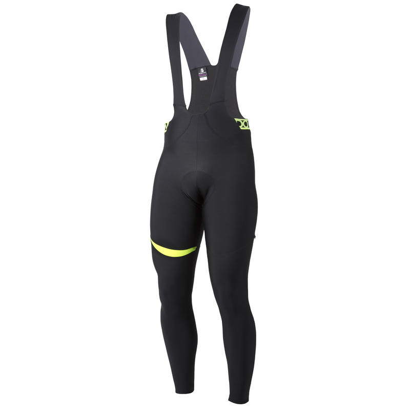 Orhi Thermal Bib Tights Black/Hi-Vis Yellow