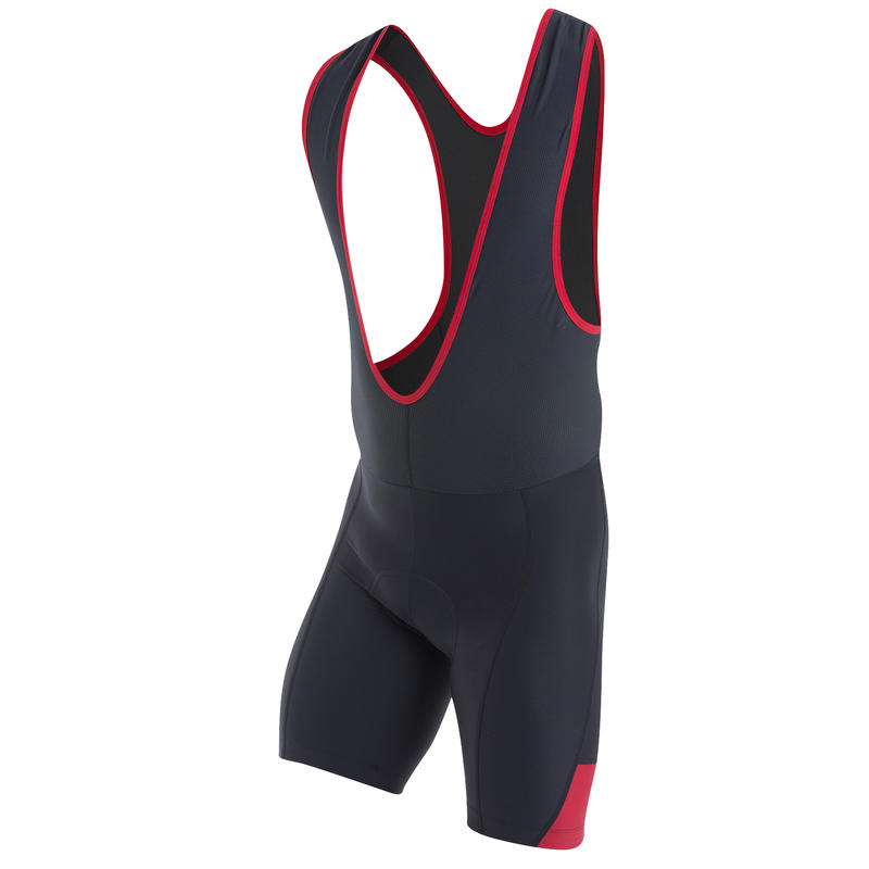 Quest Splice Bibshorts Black/True Red