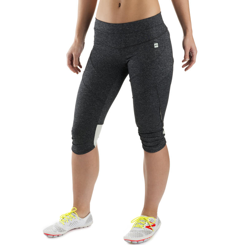 Agility Capris Black Heather/Dusty Aqua