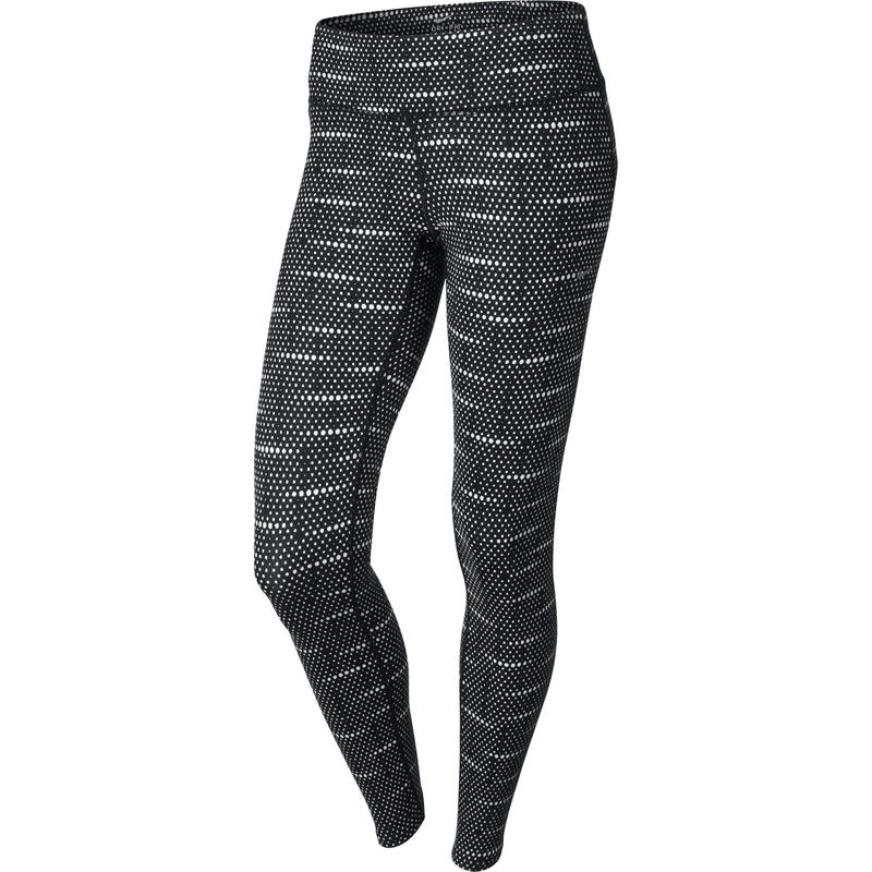 Collant Dri-FIT Printed Epic Run Noir/Imprimé blanc