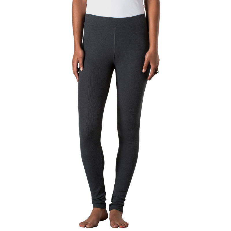 Ribbed Leap Legging Dark Graphite