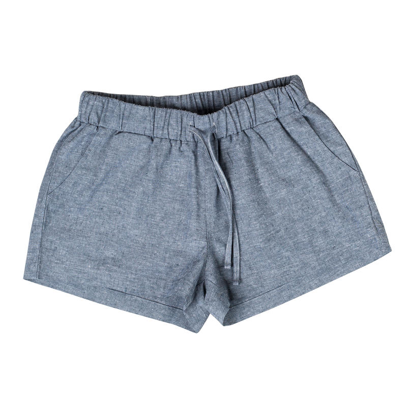 Zion Chambray Shorts Blue