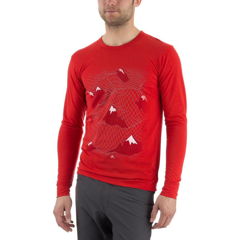 Kestrel Long Sleeve Top Velocity Red The Peaks Graphic