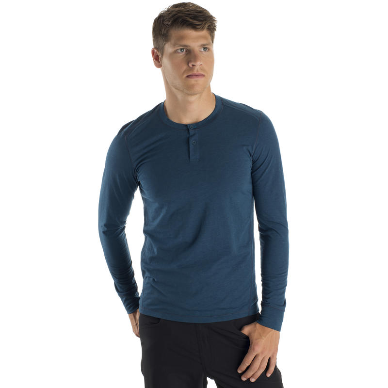 Falcon Henley Long Sleeve Top Petrel