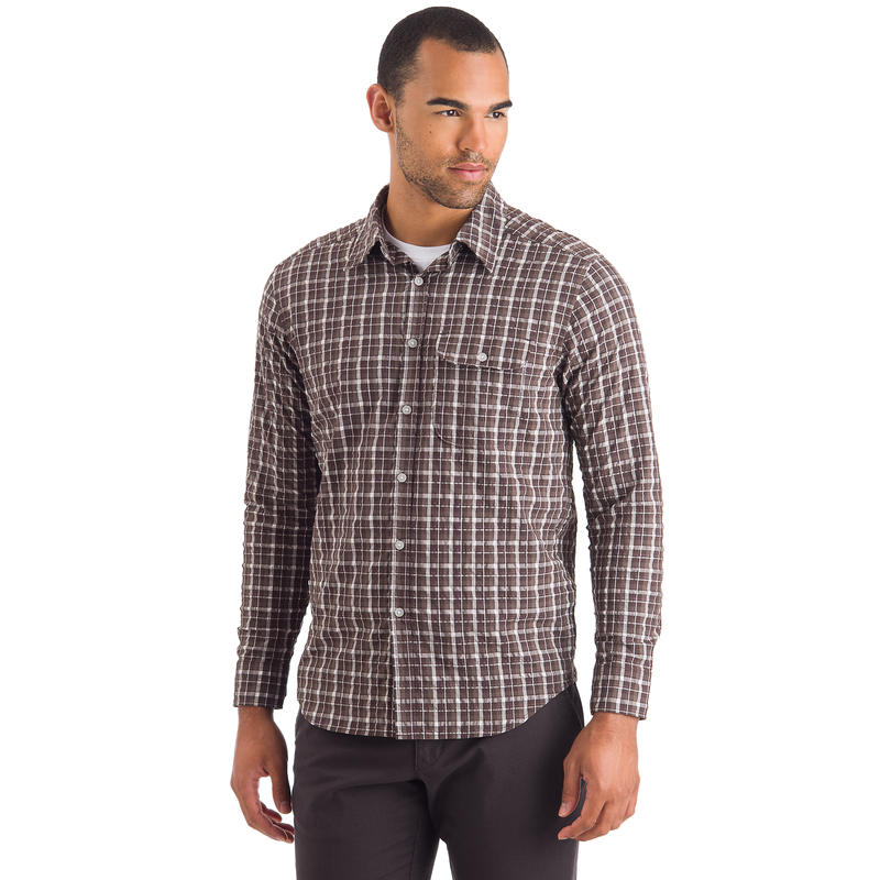 Avar Long-Sleeved Shirt Licorice-Plum Perfect Mountain Plaid