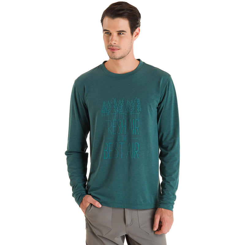 Kestrel Long-Sleeved Top Jasper Fresh Air Graphic