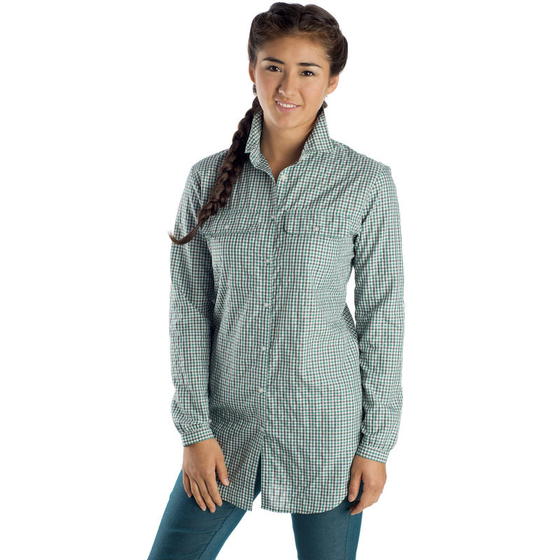 Vida Long-Sleeved Dark Slate-Seven Seas Boulder Check