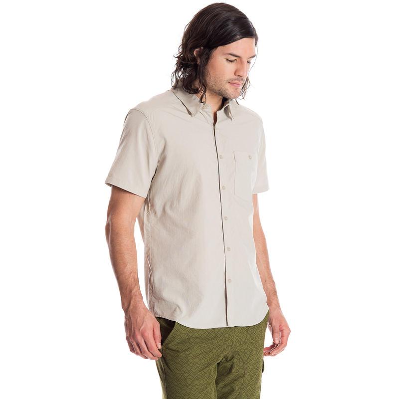 Chemise Overlook à manches courtes Batiste cailloux
