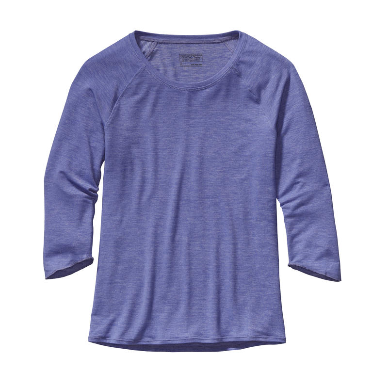 Glorya 3/4 Sleeved Top Violet Blue