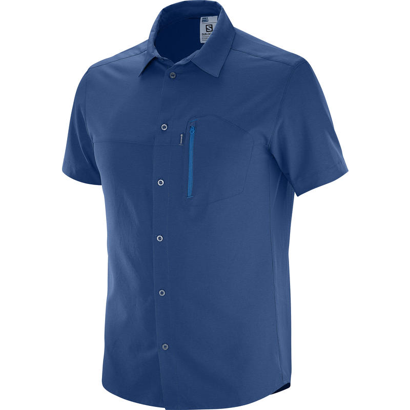 Nomad Stretch Short Sleeve Shirt Midnight Blue