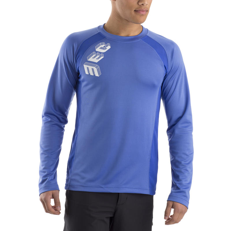 Deuce Long-Sleeved Jersey Morrocan Blue Polymec Graphic