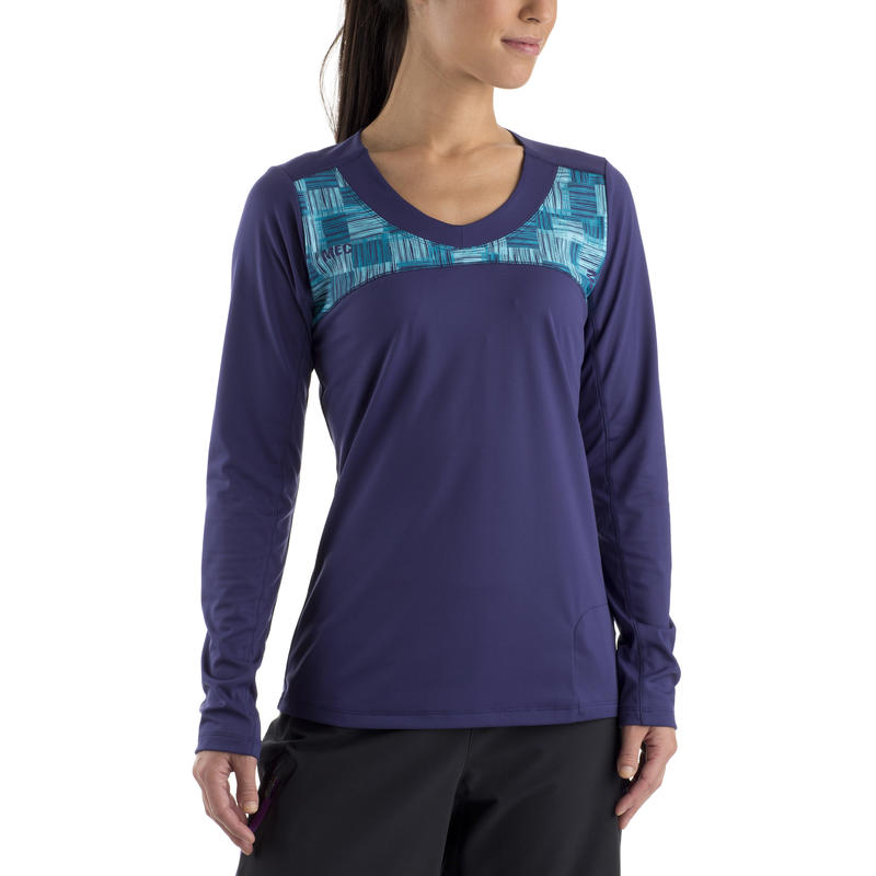 Mint Long-Sleeved Jersey Blue Ribbon Blurr Check Graphic