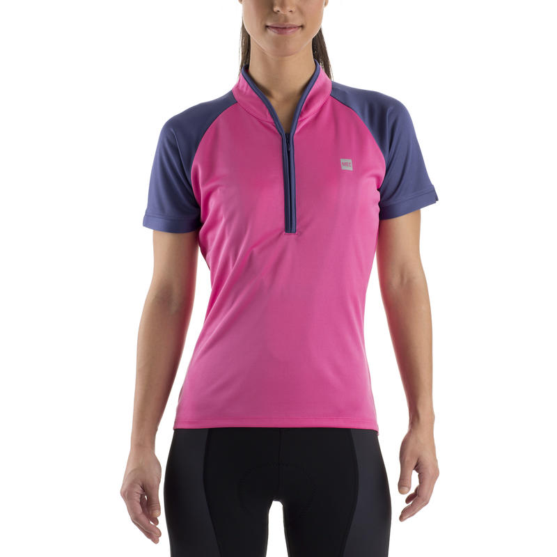 Edda SS Jersey Pink Punch/Blue Ribbon