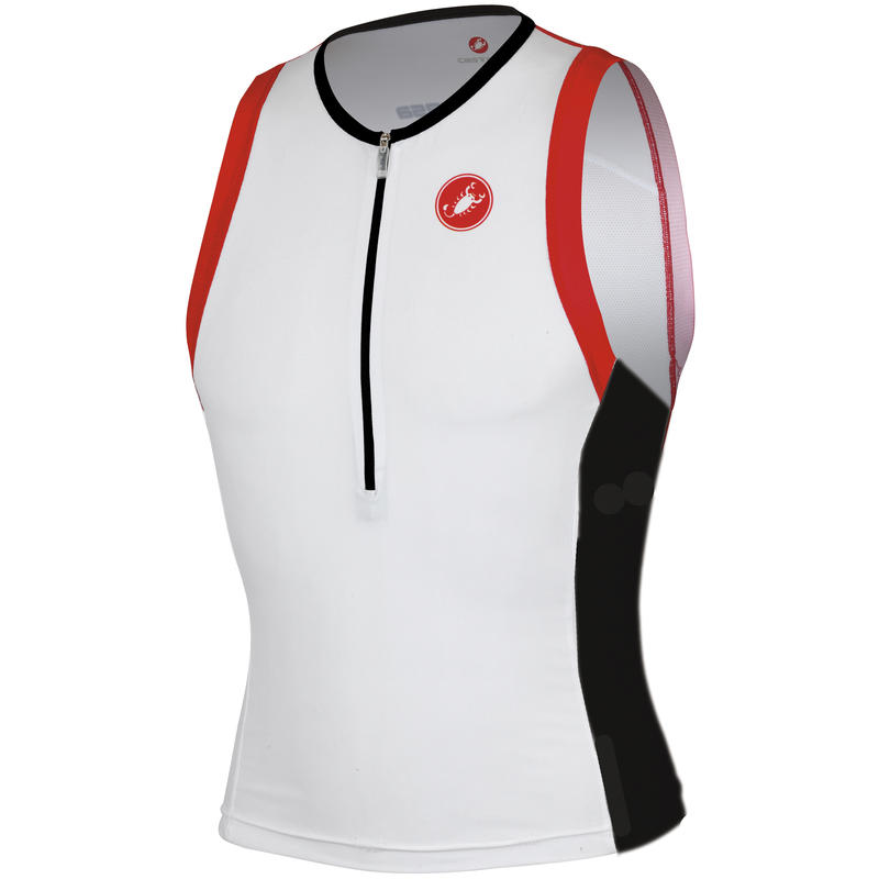 Free Tri Top White/Red